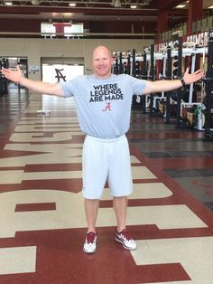 Scotty Cochran, Alabama's strength and conditioning coach. Where Legends Are Made #Alabama #RollTide #Bama ##RollTide #Bama #BuiltByBama #RTR #CrimsonTide #RammerJammer