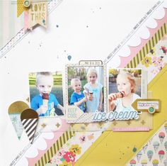 https://flic.kr/p/vHsV79 | keep cool with ice cream  Layout by Audrey Yeager using Crate Paper Poolside.