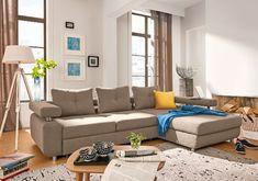 Rundecke Stoffbezug Hellgrau #wohnen #Wohnzimmer #Wohnzimmerideen
