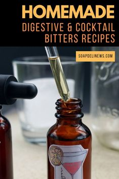 Learn how to make homemade cocktail bitters for your favorite drink recipes – or as a healthy supplement to your daily diet. Not only are these bitters as good or bet How To Make Homemade, Homemade Gifts, Cocktail Recipes, Drink Recipes, Soap Recipes, Raspberry Cocktail, Cocktail Bitters, Purple Cocktails, Herbal Remedies