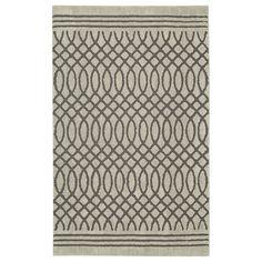 allen   roth Tiber Light Grey Rectangular Indoor Woven Area Rug (Common: 5 x 8; Actual: 60-in W x 96-in L x 0.5-ft dia)