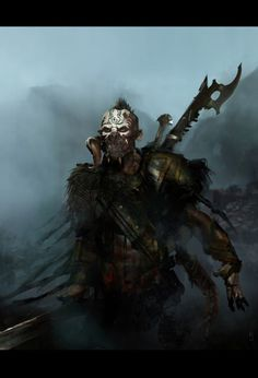 Fantasy Inspiration, Character Inspiration, Character Art, Dark Creatures, Magical Creatures, Dnd Characters, Fantasy Characters, Orc Warrior, Evil Demons