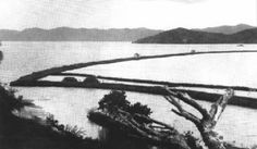7. An old, undated photograph of the He'eia Fishpond on Oahu's windward coast.