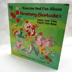 Rare Strawberry Shortcake Touch Your Nose Toes Exercise Vinyl Record Album 1981 #Educational
