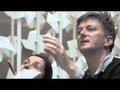 WATCH The Wind Portal by Najla El Zein  #V&A #Museum #art #installation #portal #repetition #module #paper #white #mechanism #wind #blow London Design Festival 2013 #London
