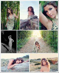 Trash the Dress outdoor photo shoot- Tiger stripe prom dress