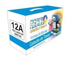 Toner Hp 12A Preto Q2612A Compatível  Durabilidade: 2.500 páginas - Para uso nas impressoras: HP LASERJET 1010, 1012, 1015, 1018, 1020, 1022, 3015, 3020, 3030, 3050, 3052, 3055, M1005 MFP, M1319f  Modelo: Q2612A   Garantia: 90 Dias  Referência/Código: TCH12A