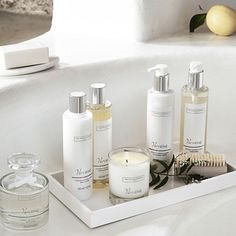 The White Company US. Verveine   A lovely uplifting scent, Verveine blends the fresh citrus notes of sparkling verbena, orange and lemon. Pinning from the UK? -> http://www.thewhitecompany.com/candles-and-fragrance/our-fragrances/verveine/?refCode=VERVEINE-MASTER