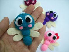 Cute Insect Dragonfly Keychain/Phone Charm/Magnet - Dan, Didi, Dona, Den, Dust.