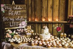 Rustic Raleigh Wedding Captured by Brett and Jessica - Real Weddings - Loverly Wedding Signs, Diy Wedding, Rustic Wedding, Dream Wedding, Wedding Country, Wedding Ideas, Wedding Blog, Wedding Cupcake Table, Wedding Cakes With Cupcakes