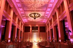The final end product. The Bently Reserve done by Raspberry Studio. Uplights, grand staging, beautiful everything. Staging, Raspberry, Floral Design, Studio, Wedding, Beautiful, Role Play, Valentines Day Weddings, Floral Patterns