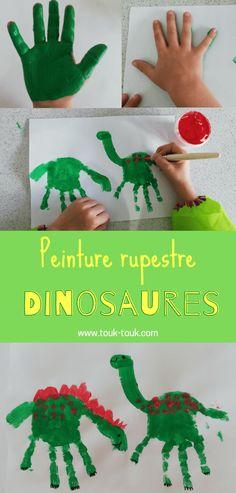 Activité facile et amusante à pour occuper les enfants sur le thème des dinosaures. Retrouvrez notre kit d'activité sur les dinosaures. 50 pages de jeux, bricolages etc. #touktouk #touktoukkitactivites #dinosaure #DIYenfant