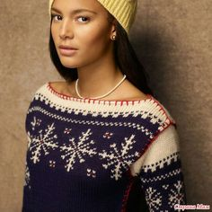 View album on Yandex. Intarsia Patterns, Knit Patterns, Fair Isle Knitting, Hand Knitting, Handgestrickte Pullover, Hand Knitted Sweaters, Knitting Sweaters, Yarn Needle, Christmas Sweaters