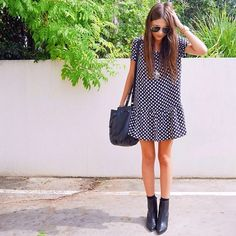 the swing dress//booties