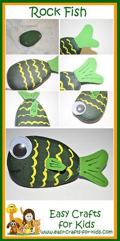 This easy fish rock painting is the perfect Summer craft for those who love the outdoors and painting! Suitable for age 6 and upwards.