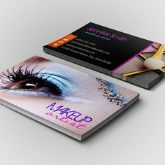 Fully customizable makeup artist business cards created by colourful customizable stylish eye shadow makeup artist business card template reheart Images
