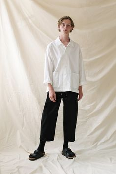 a3405f5faff96 Leon Linen Overshirt paired with Suna Drawstring Pant. Drawstring Pants,  Unisex Fashion, Pairs