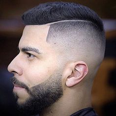 High Razor Fade + Line Part + Short Spiky Hair - Best Fade Haircuts For Men: Cool Men's Taper Fade Hairstyles - High, Low, Mid Fades Top Haircuts For Men, Best Fade Haircuts, Short Spiky Hairstyles, Long Bob Hairstyles, Razor Cut Hair, Razor Fade, Short Punk Hair, Short Hair Cuts, Cute Ponytails