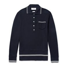 Long-Sleeve Polo Shirts You Can Layer Under Everything This Winter Photos Winter Fashion, Men's Fashion, Pique Shirt, Winter Photos, Long Sleeve Polo, Polo Shirts, Summer Shirts, Mens Tops, How To Wear