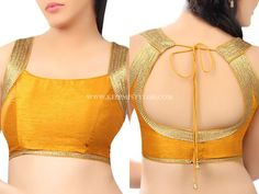 Looking for simple blouse designs for your silk sarees? Check out amazing blouse designs that are cool and super stylish to wear. Best Indian Saris Click visit link above to see Saree Blouse Neck Designs, Simple Blouse Designs, Stylish Blouse Design, Choli Designs, Bridal Blouse Designs, Kurta Designs, Sleeves Designs For Dresses, Indian Saris, Indian Blouse