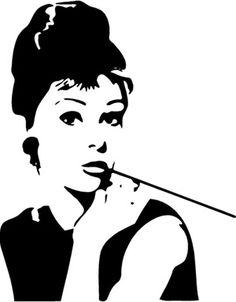 Audrey Hepburn wall decal. | artful things | Pinterest ...