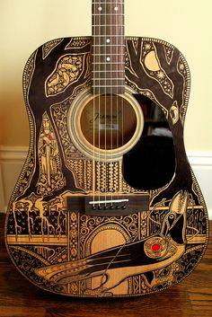 Maggie Stiefvater sharpie guitar