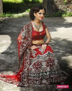 Dazzling Red Bridal Lehenga