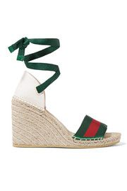 721cf098f95 Christian Louboutin - Cataclou 120 studded patent-leather wedge ...