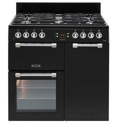 Leisure Cookmaster Dual Fuel range cooker black CK90F232K 90cm