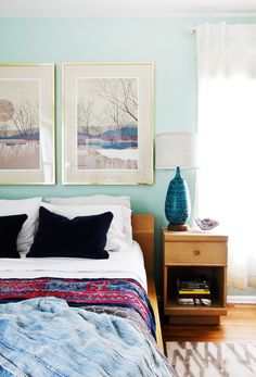 Simple bedroom with eclectic touches