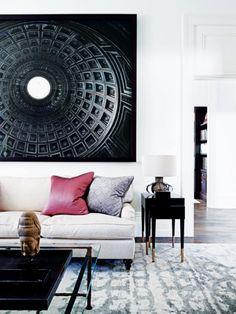 nueva sala tradicional en Sydney con el arte de gran tamaño | mediante Coco + kelley