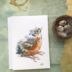 Watercolors by Maria Stezhko by CMwatercolors on Etsy Watercolor Drawing, Watercolor Animals, Watercolor And Ink, Watercolor Paintings, Watercolors, Watercolor Ideas, Bird Drawings, Bird Art, Illustrations Posters