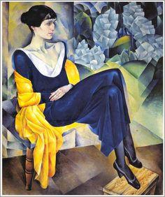 Она знала, какая цветовая гамма будет актуальна через 100 лет. Натан Альтман. Портрет Анны Ахматовой. 1914г.