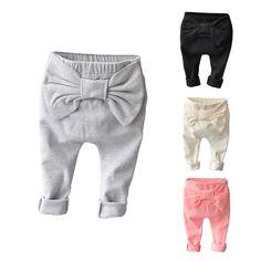 17ab474b12057d Baby girls pants kids children bow legging 2018 spring autumn new kids girls  boys pants 0