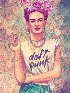 22 Ilustraciones tributo a Frida Kahlo creadas por artistas jóvenes