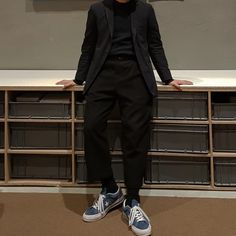 "Reposting @ninetykids_dko: ... ""출근전야"" Fashion Men, Winter Fashion, Mens Clothing Styles, Hairdresser, Blues, Normcore, Menswear, Street Style, Star"