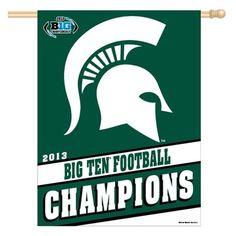 Michigan State Spartans 2013 Big Ten Football Champions Vertical Banner