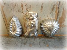 Vintage Tiny Candy Molds / Set of 3 / Squirrel by AntiqueShopGirl, $12.00