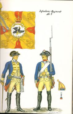 The Army of Frederick The Great of Prussia 1750. Infantry Regiment No.5