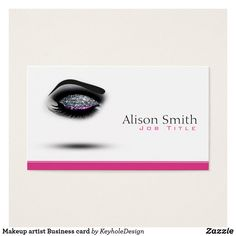 Makeup Artist Business Card Cards Eyelash Extensions Eyelashes Red Lips