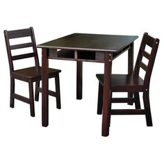 Lipper Childrens Square Table and Chair Set - Two is company! Your ...