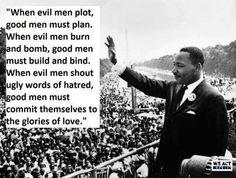 """Martin Luther King Jr: ""When evil men plot, good men must plan ."" <--- this grips me. Are we planning? Rocky Balboa, Mahatma Gandhi, Dalai Lama, Steve Jobs, Barack Obama, Comme Des Freres, Einstein, Martin Luther King Quotes, Frases"
