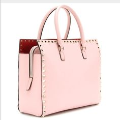 81e394f255 Valentino Rock Stud Pink Hand Tote Purse Brand new Valentino rock stud in  pink with