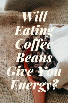 Love the smell of coffee beans? I certainly do! Do you ever pop a coffee bean in your mouth as you grind your java? I started to notice a boost from chewing coffee beans. I began to wonder if eating coffee beans can have the same effect as drinking a cup of joe. Yes, eating coffee beans does give you a boost of energy. In fact, eating coffee beans allows caffeine to enter your system faster than from a cup of coffee. #coffee Coffee Cream, Coffee Type, Black Coffee, Types Of Coffee Beans, Different Types Of Coffee, Green Coffee Bean Extract, Coffee Canister, Decaf Coffee, Coffee Accessories