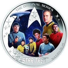 Star Trek: The Original Series Captain James T. Kirk and Spock Silver Proof Coin Star Trek Logo, Film Star Trek, Star Wars, Star Trek Enterprise, Uss Enterprise Ncc 1701, Mint Coins, Silver Coins, Star Trek 2016, Star Trek Original Series