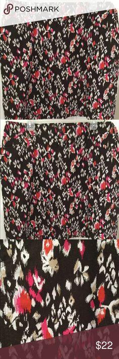 CJ Banks Mini Skirt Skort Boho Cotton Stretch 16W Adorable mini skirt skort from CJ Banks really nice stretch cotton fabric funky Ikat pattern size 16W excellent condition CJ Banks Skirts Mini