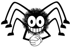 How to Draw a Cartoon Spider for Halloween with Easy Step by Step Drawing Tutorial - How to Draw Step by Step Drawing Tutorials Easy Halloween Drawings, Halloween Painting, Halloween Kids, Google Halloween, Spider Cartoon, Cartoon Pics, Funny Spider, Christmas Cartoons, Black And White Drawing