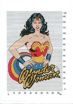 My diy pattern for my Wonder Woman cross stitch.