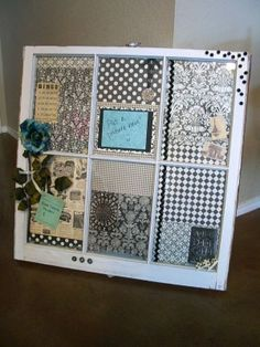 Crafts Made From Old Windows | have to start hunting for old wooden windows...because this would make ...