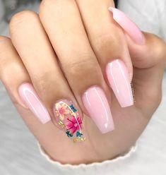 Summer Acrylic Nails, Cute Acrylic Nails, Toe Nail Art, Nail Polish Designs, Nail Art Designs, Office Nails, Encapsulated Nails, Organic Nails, Flower Nail Designs